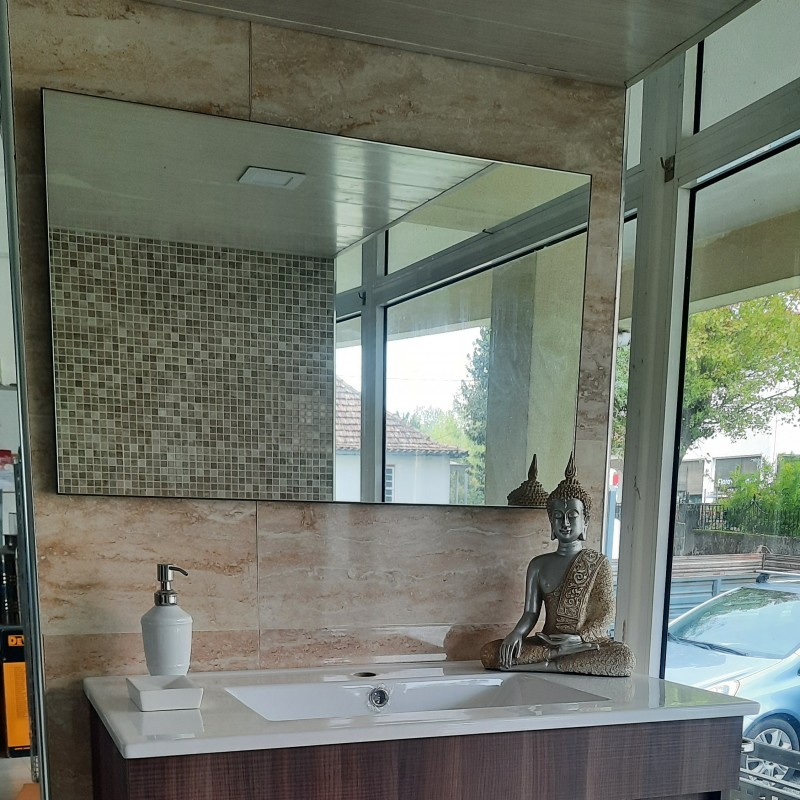 Movel Wc c/ Lavatorio e Espelho Wengue
